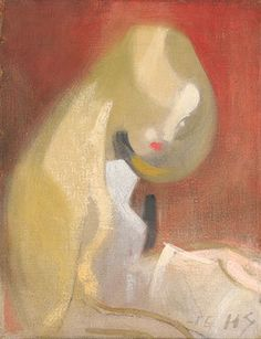 Helene Schjerfbeck - Girl with blonde hair, Oil on canvas Helene Schjerfbeck, Helsinki, Blonde Hair Girl, Rose Vase, European Paintings, First Art, Oeuvre D'art, Figurative Art, Painting Inspiration