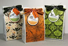 Halloween treat bags and fall cards