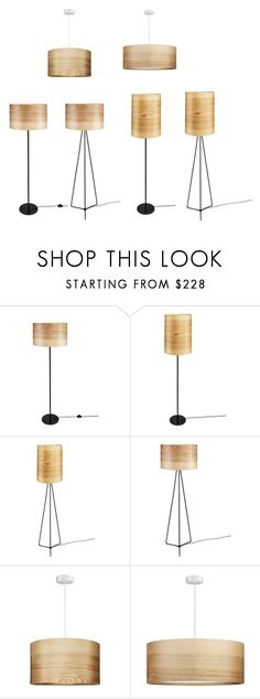 """""""Natural Ash Veneer Lamps Collection JENS"""" by sponndesign on Polyvore featuring interior, interiors, interior design, dom, home decor i interior decorating"""