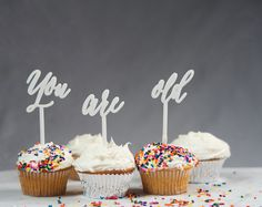 You Are Old Cake Topper Set: Laser Cut Acrylic by CollectedEdition