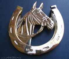 WESTERN SOLID BRASS DOOR KNOCKER HORSE HORSESHOES  #WallDecor #Western #DoorAccessories