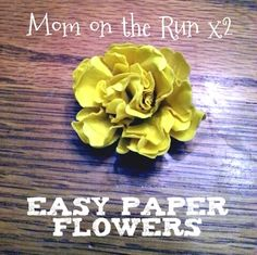 Easy 3D Paper Flowers Tutorial.  Perfect for cards, gift-wrapping or anything else you can think of!  via www.momontherunx2.net