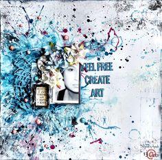 Feel Free Create Art - Scrapbook.com. Again, a great background!