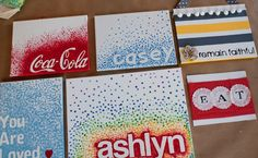 relief art - stickers down, polka dot paint over and remove stickers....ahhh so cute!