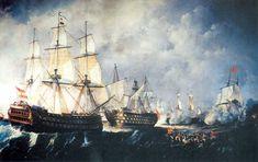 Pinturas e ilustraciones navales, cuadros mas representativos de la historia naval. Navío San Telmo, Combate del navío Princesa, Combate del...