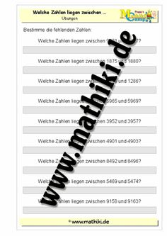 29 best Zahlenraum bis 1 Million images on Pinterest | Elementary ...