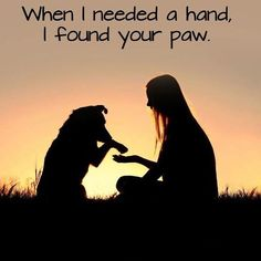 When I needed a hand, I found your paw. #ThankfulThursday #Thankful #GetYourRescueOn