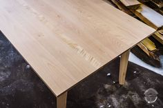 Massive plank dining table from birch. Storywood furniture made from customer's own wood materials. Design by Puuartisti, Finland. Birch Decorations, Butcher Block Cutting Board, Scandinavian Style, Furniture Making, Plank, Finland, Homesteading, Bespoke, Solid Wood