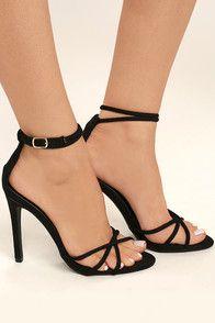 5d006d1aea 12 Best / Black Strap Heels \ images | Fashion clothes, Feminine ...