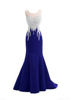 Mermaid Prom Gown,Royal Blue Prom Dresses,Royal Blue Evening
