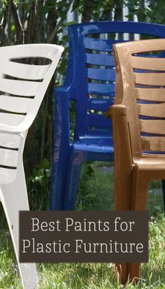 There are quite a few different kinds of plastic paints on the market. They vary · Plastic Patio ChairsPaint ... & How to Spray Paint Plastic Chairs: An Easy Makeover   backyard ...