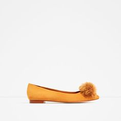 ZARA - COLLECTION SS/17 - LEATHER POMPOM BALLERINAS