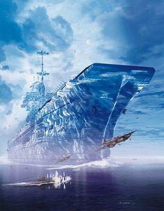 Dark Roasted Blend: Giant Iceberg Aircraft Carrier