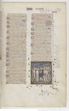 Grandes Chroniques de France Fol 211r, 1375-1380, Henri du Trévou & Raoulet d'Orléans