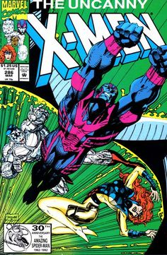 "#AgeOfXmen Angel bedeviled! In ""X-Factor"" (a series reviving the original X-Men to the point that Jean was alive and Hank was demutated), Warren was further mutated into Archangel, a blue-skinned man with razor-sharp wings. In other news, Colossus' brother is also a mutant."