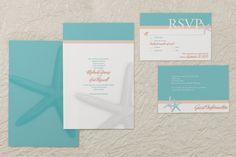 Starfish - Rectangle Wedding Invitation by MagnetStreet