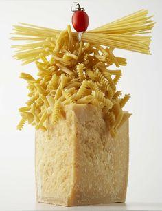 Pasta, Parmesan and a Hot Glue Gun by sweetpaul #Sculpture #Food_Art #sweetpaul