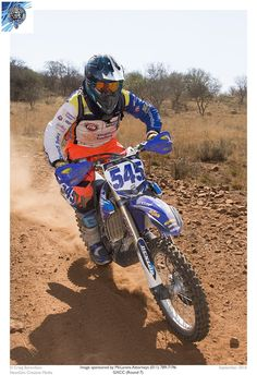 Andre Basson Gauteng off road race , 2 nd place