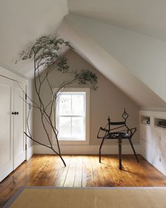 Great use of what is usually dead space in attics and cape cod style second floors.