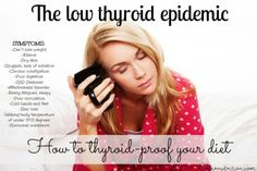 Got low thyroid? Learn how to thyroid proof your diet and get to the root of the problem, as well as learn why thyroid meds are not always a good idea. Thyroid Disease Symptoms, Thyroid Diet, Thyroid Issues, Thyroid Problems, Thyroid Health, Hypothyroidism, Thyroid Levels, Thyroid Gland, Kidney Health