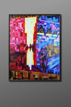 Original Acryl Gemälde, 90x70cm The Entire Universe, Move Mountains, What Is Love, Love Story, Florian, Faith, Painting, Kunst, Painting Art