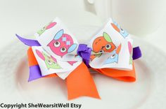 Hair Bow for Girls Halloween Hair Clip Fall Hair by SheWearsitWell, $8.50