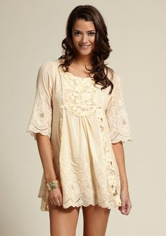 LOVE!!! Would be perfect w/ cowboy boots :) gracia LACE BABY DOLL DRESS