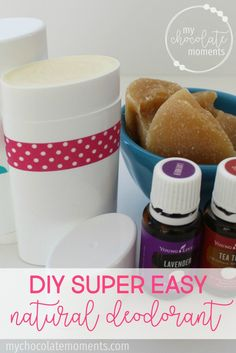 DIY super easy natural deodorant made with Young Living essential oils | After tons and tons of searching and trying different options I've FINALLY found something that works amazing for me, actually gets rid of the stink, and doesn't irritate my armpits