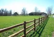 I like this simple wood-rail fence.