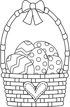 Easter Basket Coloring Pages Make your world more colorful with free printable coloring pages from italks. Our free coloring pages for adults and kids. Easter Coloring Pages Printable, Easter Bunny Colouring, Easter Egg Coloring Pages, Coloring Pages For Kids, Coloring Books, Free Easter Printables, Easter Coloring Pictures, Coloring Worksheets, Easter Drawings