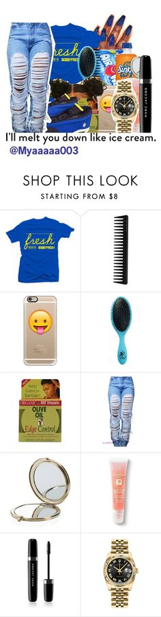 """""""........"""" by myaaaaa003 ❤ liked on Polyvore featuring Jackpot, GHD, Casetify, The Wet Brush, Organic Root Stimulator, Henri Bendel, Lancôme, Marc Jacobs and Rolex"""
