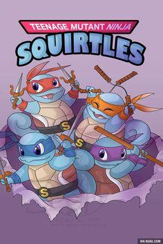 Teenage mutant ninja squirtles!