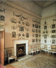 The 18th century Print Room at Castletown House in Ireland.