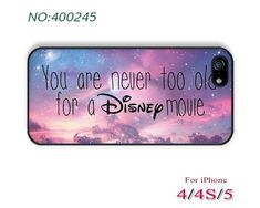 you are never too old for a Disney movie Phone Cases iPhone