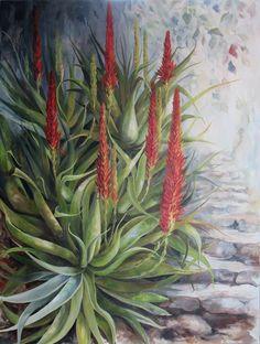 Africa Oil on Canvas x painted by Ellie Eburne, named 'Stairway to Heaven' Diy Cardboard, Stairway To Heaven, South Africa, Oil On Canvas, Succulents, Friends, Painting, Art, Amigos