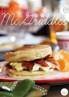 Homemade McGriddles Sandwiches with Buttermilk Pancakes