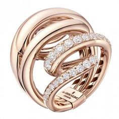 18ct Rose Gold & White Diamond Vortice Ring