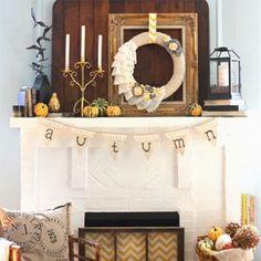 Fall Mantel Decorating Ideas - Halloween Mantel Decorations
