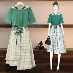New summer dress patterns for women new looks Ideas Kpop Fashion Outfits, Girls Fashion Clothes, Korean Outfits, Stylish Outfits, Fashion Drawing Dresses, Fashion Illustration Dresses, Fashion Dresses, Fashion Design Drawings, Fashion Sketches