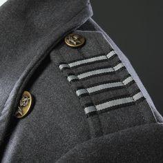ThinkGeek :: Captain Jack Harkness Coat | Jack's coat reference. Ribbon. Just simple ribbon. Jo-ann Fabrics, here I come!!