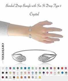 Type 1, Bangles, Crystals, Jewelry, Products, Bangle Bracelets, Jewellery Making, Bracelets, Jewerly