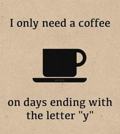 Every other day, we're fine. #Coffee #Love #MrCoffee