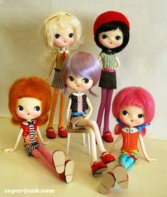Handmade pose dolls by Super*Junk!