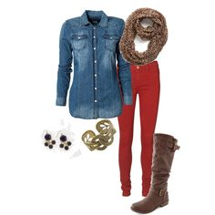 Fall...I need red jeans!