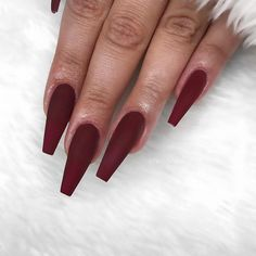 """2,404 Likes, 10 Comments - Bano Betweni (@nailsbybano) on Instagram: """"""""Vamp Red"""" matte """""""