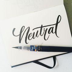 Neutral #calligrafikas