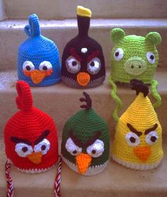 Angry Birds Hat crochet patterns alisondaywalker