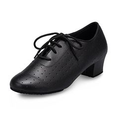 Minitoo QJ7010 Womens Laceup Black Leather Modern Salsa Tango Ballroom Latin Dance Shoes 65 M US -- Details can be found by clicking on the image.(This is an Amazon affiliate link)