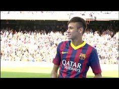 28.  2013 Neymar Introduced (Video) FC Barcelona - Los primeros toques de Neymar en el Camp Nou