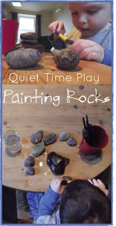 Quiet Time - Painting Rocks